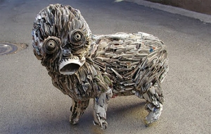 Artist Nick Georgiou creates a new way to recycle newspapers.