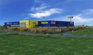 Provided by IKEA, a rendering of the purposed IKEA Merriam location.