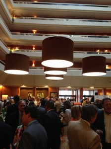 The lobby of the DoubleTree was packed to the gills with honorees before the ceremony, and the building's open architecture provided the perfect backdrop for mingling.