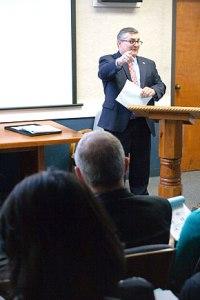 McDonough at the United Way meeting.