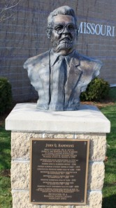 The Hammons bust rests outside the Missouri Sports Hall of Fame.
