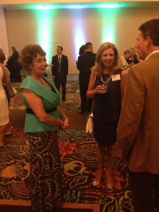 President and Chairwoman Dianne Elizabeth Osis chats with guests during the hors d'oeuvres hour. Since founding SBJ in 1980, Osis has been the smiling face of the journal.