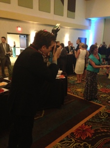 Despite the fun, there was still work to be done. SBJ photographer Wes Hamilton made his way around the room, camera in hand.