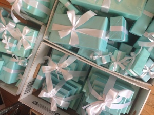 Prior to the event, the SBJ office was a sea of Tiffany blue.