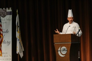 "Keynote speaker Jay Ziobrowski offers advice: ""Cook darn good food."""