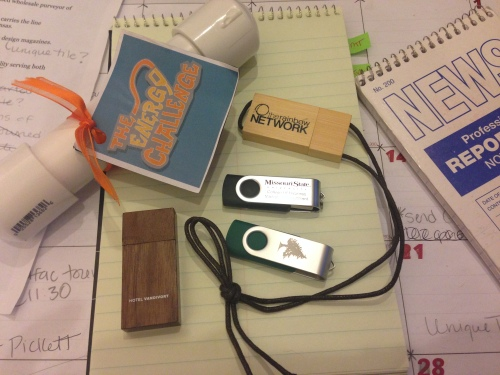 The SBJ editorial staff is amassing a small collection of USB flash drives from companies across the Ozarks.
