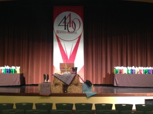 """Note """"the boot"""" for Equi-Librium as Kevin and Liz called it. """"Don't try and pass off one of your stinky boots for the boot,"""" they teased from stage. #SBJ4040"""