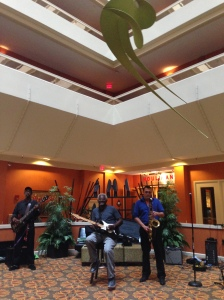 The sweet sounds of The Norman Jackson Band filled the atrium during the social hour. They were fab.