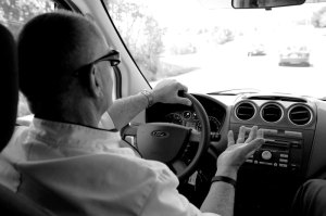 While driving to Fordland, Bill recalls the story of how he met his wife.