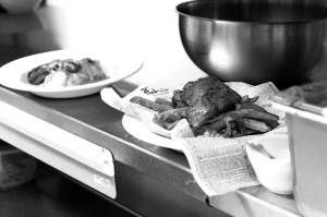 Employees prepared fish and chips at Farmers Gastropub for the lunch crowd.