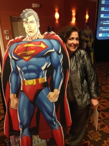 Our fearless leader Jennifer Jackson and the Man of Steel.