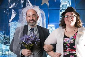 And this one of Brian and I as a Vegas bride and groom. I think the veil really pulls it all together.