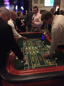 While the dealer volunteered to teach me, I didn't place a bet at the craps table. My gaming skills aren't up to that level yet.
