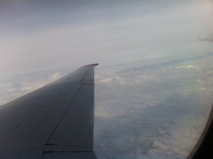 We flew nearly 900 miles in a little over two hours.