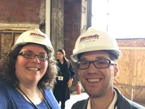 I couldn't resist this hardhat selfie with Springfield Business Journal Editor Eric Olson.