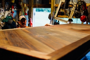 Michael has built two tables for the boutique hotel, which also is a Marlin client.